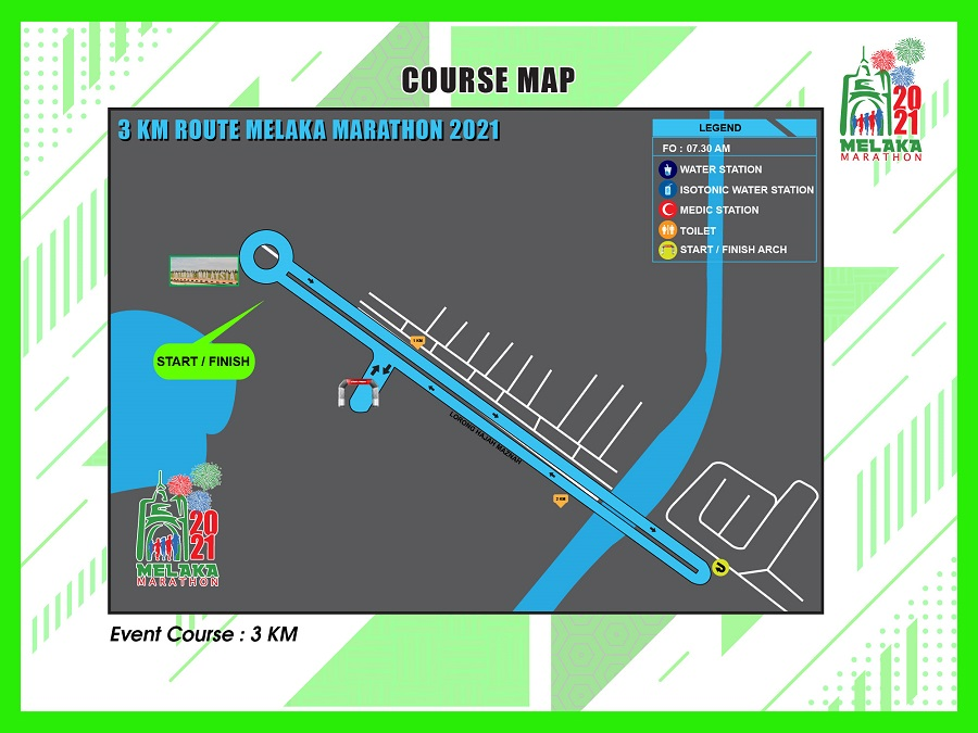 3KM Course Map
