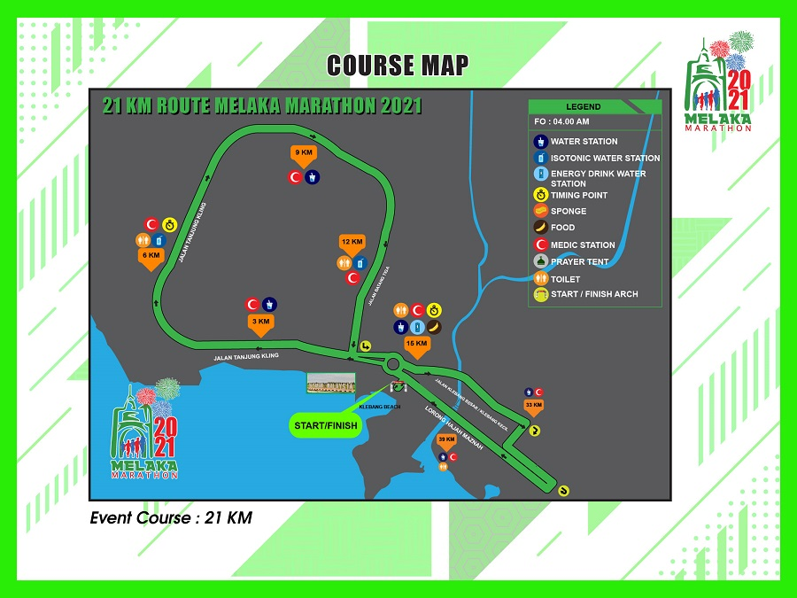 21KM Course Map
