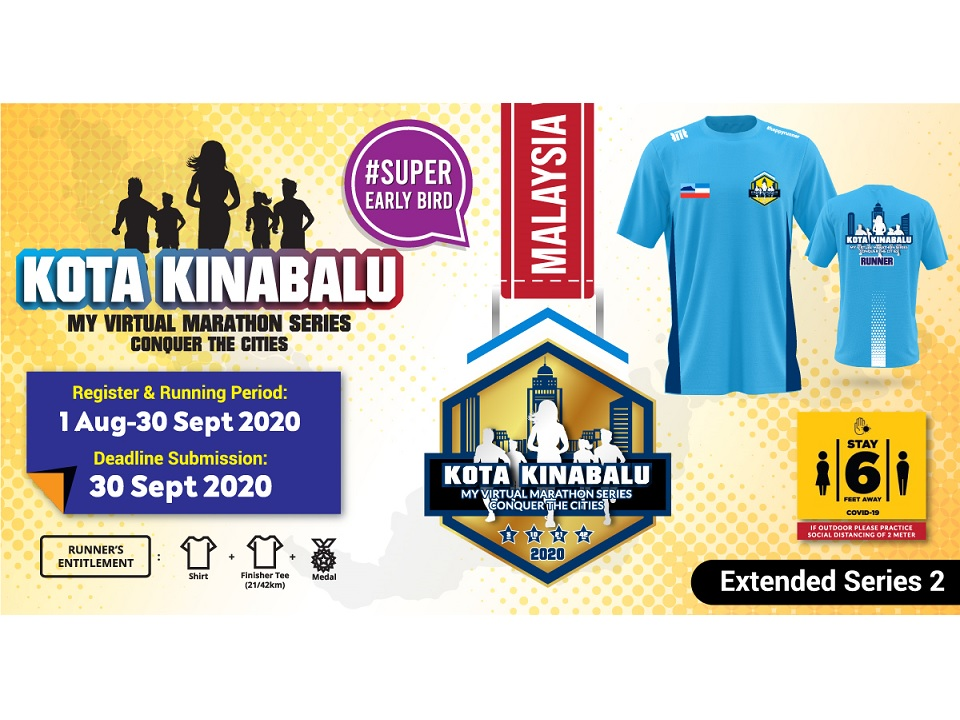 Kota Kinabalu MY Virtual Marathon Series 2020 Conquer The Cities