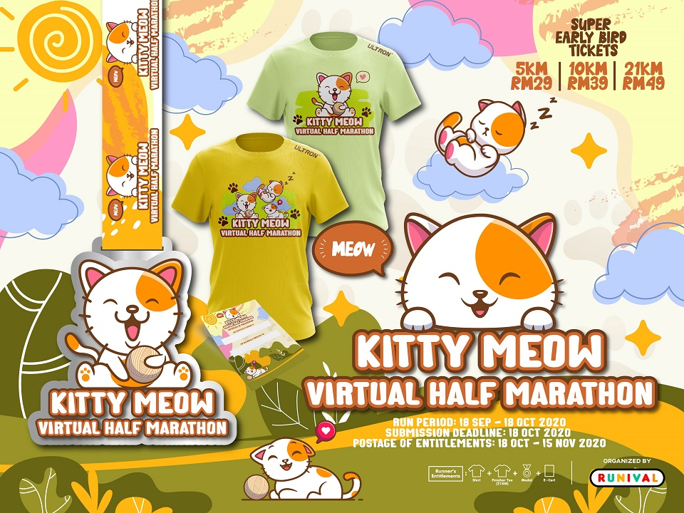 Kitty Meow Virtual Half Marathon