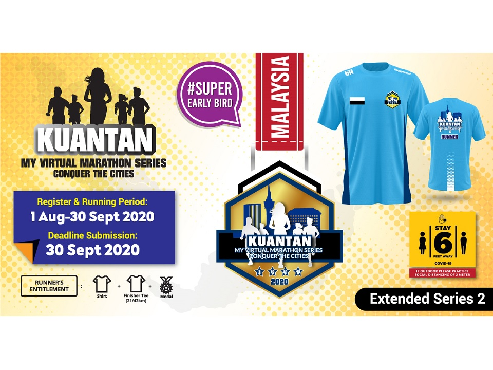Kuantan MY Virtual Marathon Series 2020 Conquer The Cities