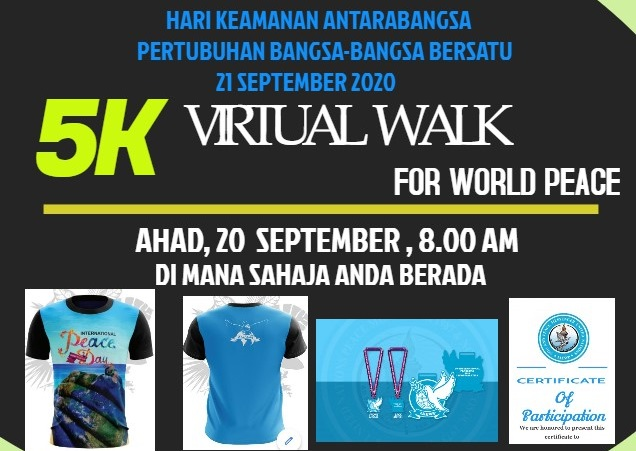 5KM Virtual Walk For World Peace 2020 Banner