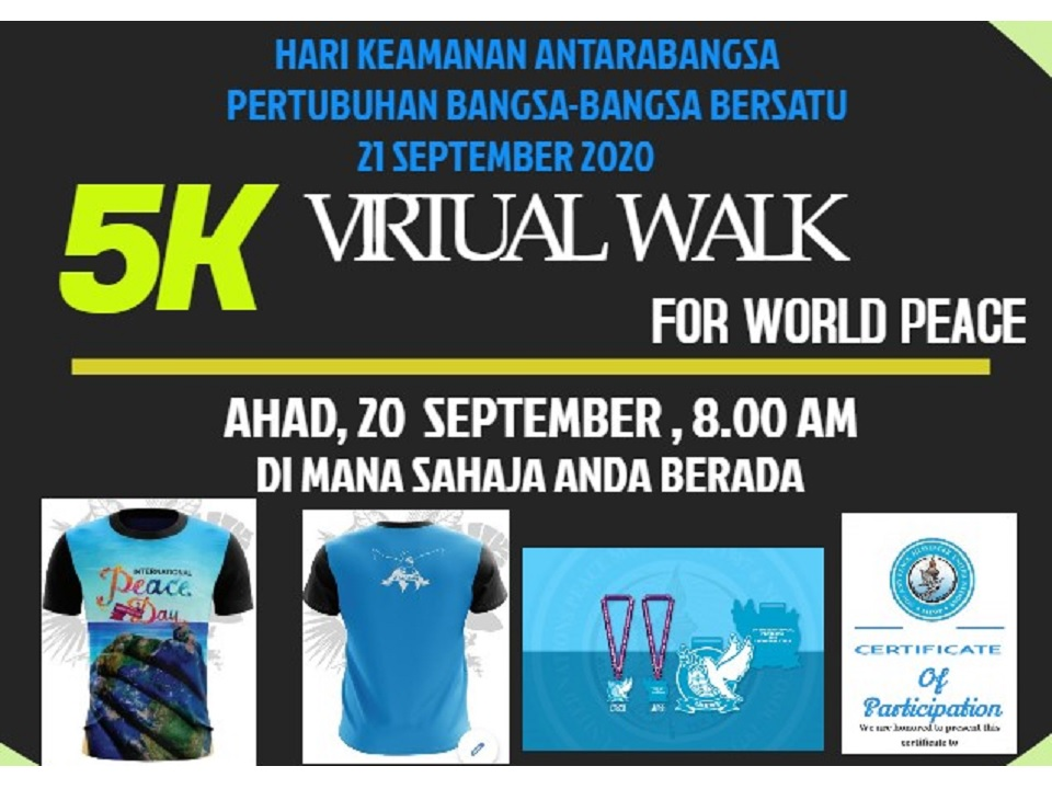 5KM Virtual Walk For World Peace 2020