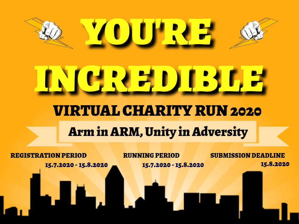 You're Incredible Virtual Charity Run 2020